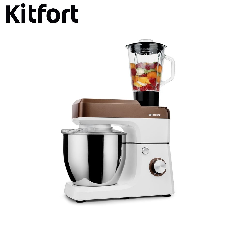 Mixer planetary Kitfort KT-1339 Food Mixer electric kitchen Cocktail shaker mixers Household appliances for kitchen Mixer manual ir 5409 mixer household mini handheld electric for whipping in a cup powered by 2 aa batteries