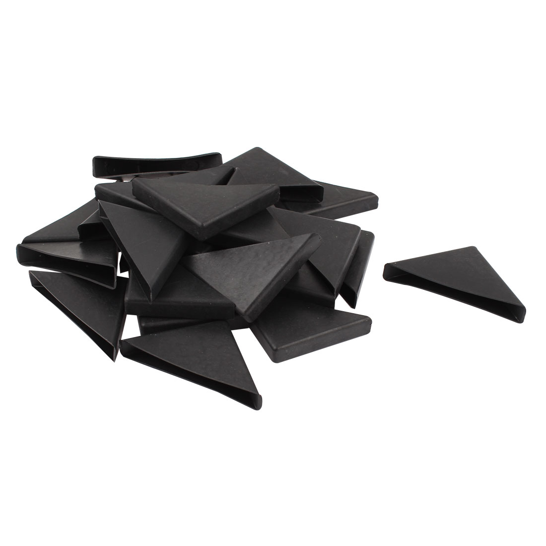 x autohaux 24 pcs triangle shape furniture glass table corner cushion protector 10mm x 75mm