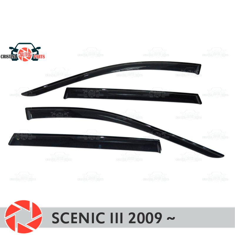 Window deflector for Renault Scenic 3 2009~ rain deflector dirt protection car styling decoration accessories molding встраиваемый электрический духовой шкаф zanussi opzb 2300r