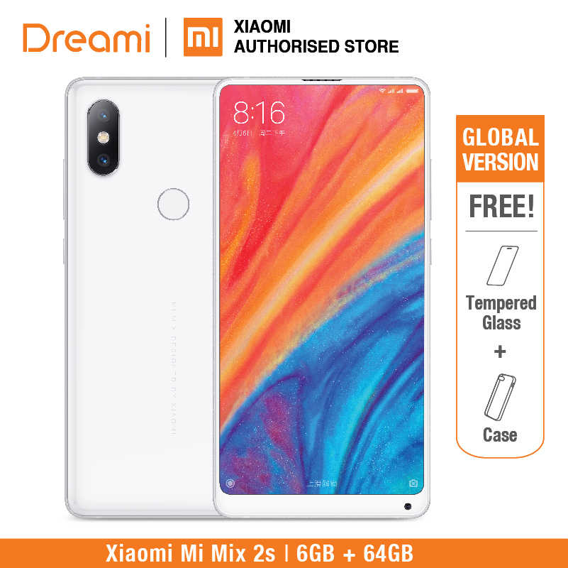 Global Version Xiaomi Mi Mix 2S 64GB ROM 6GB RAM (Brand New and Sealed) mix2s 64gb