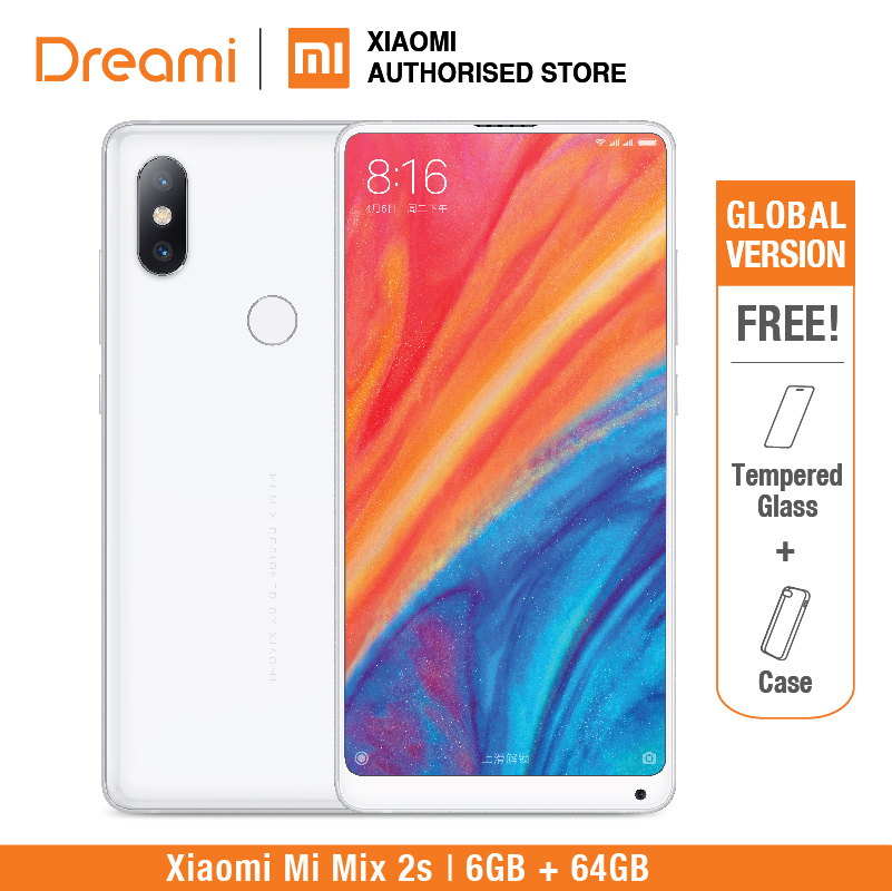 Mix Global versão Xiaomi Mi Mix 2S 64GB Rom 6GB Ram [Snapdragon 845] Protetor de Tela GRÁTIS (Novos e Selados)