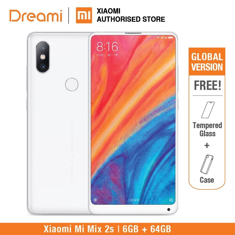 Глобальная версия Xiaomi Mi Mix 2S 6 ГБ + 64 ГБ [Snapdragon 845] в подарок защита для экрана (новая и запечатанная упаковка)