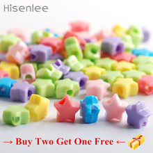 Buy 2 Get 1 Free 13mm 50pcs Pentagram shape Cheap Hot Fashion Good Quality Acrylic Scattered Beads Art Craft DIY Beads(China)