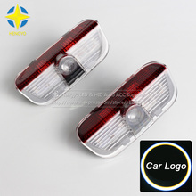 цена на 2X LED Courtesy Lamp Car Door Welcome Light 12V Projector Shadow Styling For Porsche Cayenne 2011-2015 boxster cayman macan 911
