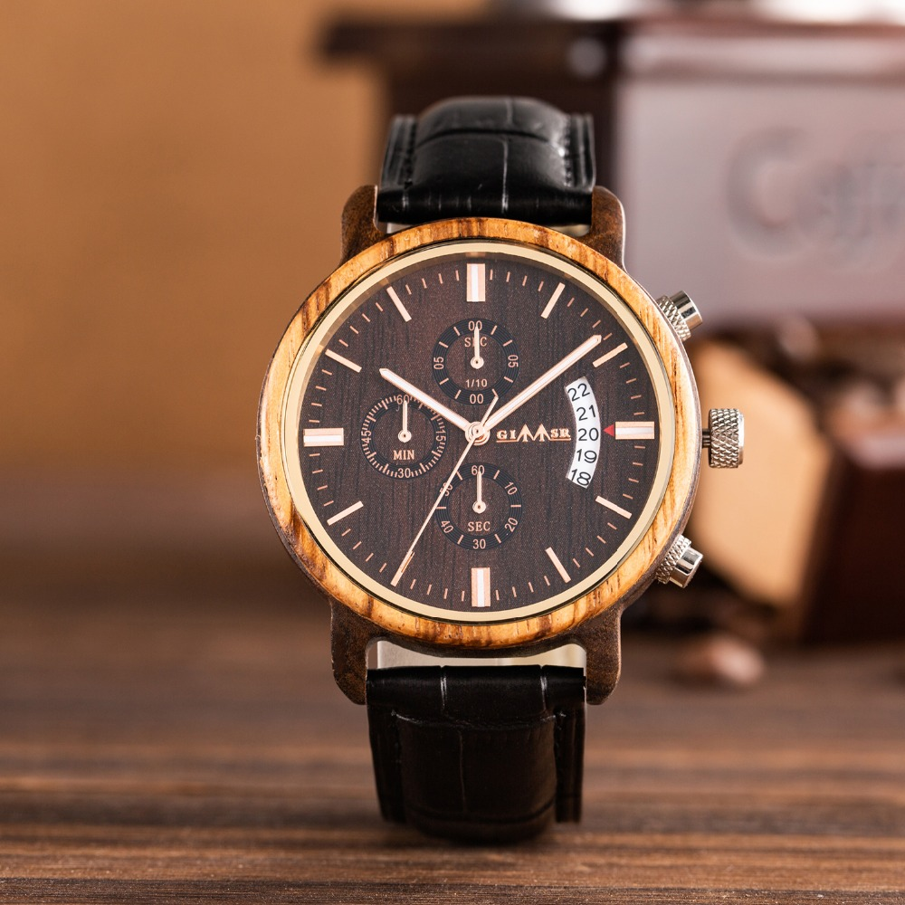 Watch Zebra Wooden Men Watch Relogio Masculino Luminous Luxury Top Brand Chronograph Watches erkek kol saati Free Drop Shipping for yamaha fz1 fz6 fazer fz6r xj6 diversion black motorcycle adjustable folding extendable brake clutch lever page 9