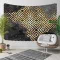 Else สีดำสีเทาเมฆสีเหลือง ikat Nordec ล็อค 3D พิมพ์ตกแต่งผ้าคลุมไหล่โบฮีเมียนแขวนผนัง Landscape Tapestry Wall Art