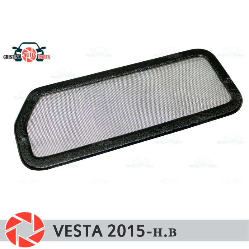 For Lada Vesta 2015- filter mesh under jabot plastic ABS protection decoration embossed exterior car styling accessories