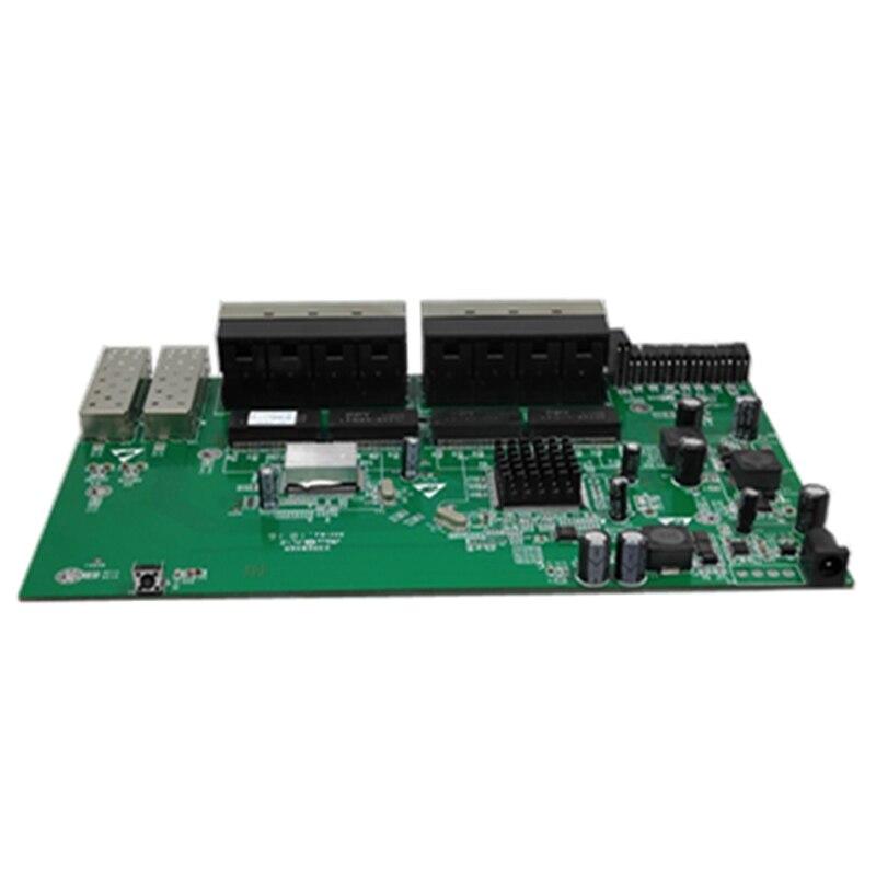 POE реверс, 2 Порты и разъёмы SFP + 16 Порты и разъёмы FE Rj45 PD Operacional, 2 SFP 5 км GE модуль + 2 SC/upc быстрый разъем без Vlan