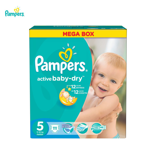 Подгузники PAMPERS Active Baby Junior 11-18 кг Мега 111