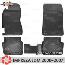 Коврики для Subaru Impreza 2000 ~ 2007 rugs Нескользящие полиуретановые грязи защиты интерьер автомобиля средства укладки волос