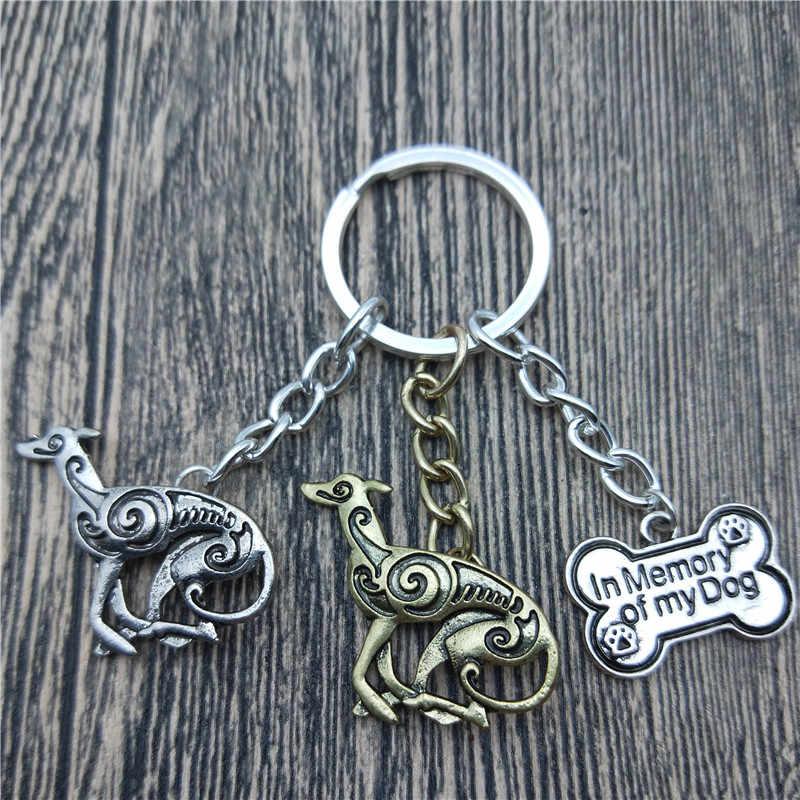 מחזיקי מפתחות גרייהאונד איטלקי חדש אופנה לחיות מחמד תכשיטי כלב גרייהאונד איטלקי רכב Keychain מחזיק מפתחות תיק לנשים גברים