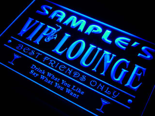 qi tm Name Personalized Custom VIP Lounge Best Friends Only Bar Beer Neon Sign with On