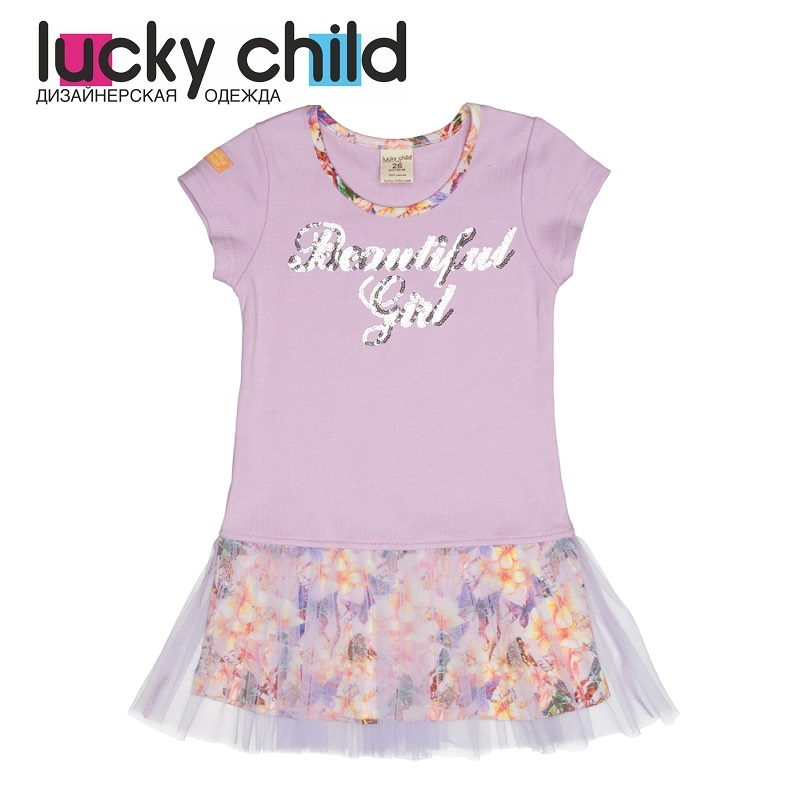Dresses Lucky Child for girls 55-64s Sundress Dress Children clothes романова м угадай кто жужжит