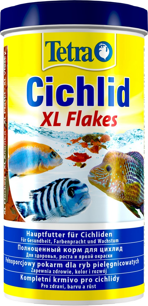 купить Fish food  Tetra Cichlid XL Flakes (flakes) for all types of cichlids, 1 l. дешево