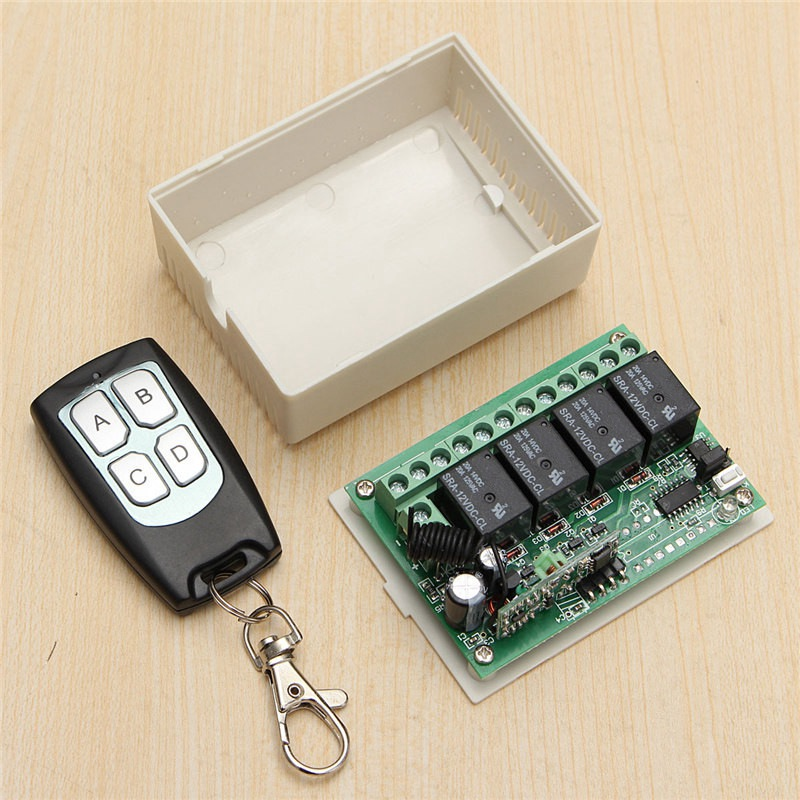 3Pcs/Set For DC 12V 4CH Small Channel Wireless Remote Control Controller Radio Switch 315mhz 200m Transmitter Receiver new arrival for ac 220v 1ch small channel wireless remote control radio switch 315mhz 1 transmitter 3 receiver 200m sku 5226
