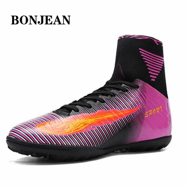 d342ecade40 New high-top sneakers men and women TF broken nails Messi Professional  Football shoes game