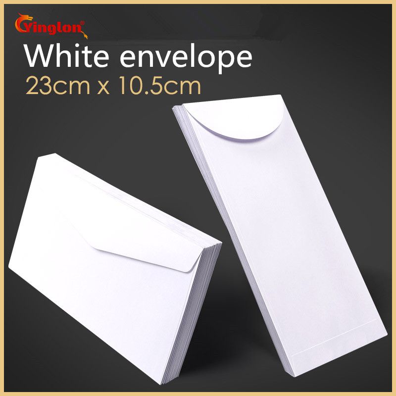 Free Shipping 100pcs / Lot White Envelope Simple Clean Blank Envelope Simple Decorative Wedding Invitation Envelope