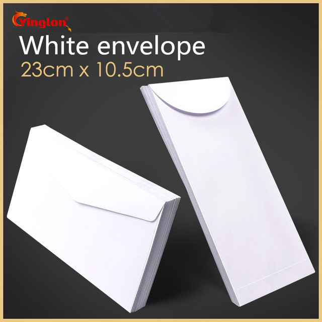 Free shipping 100pcs / lot white envelope simple clean blank envelope simple decorative wedding invitation envelope