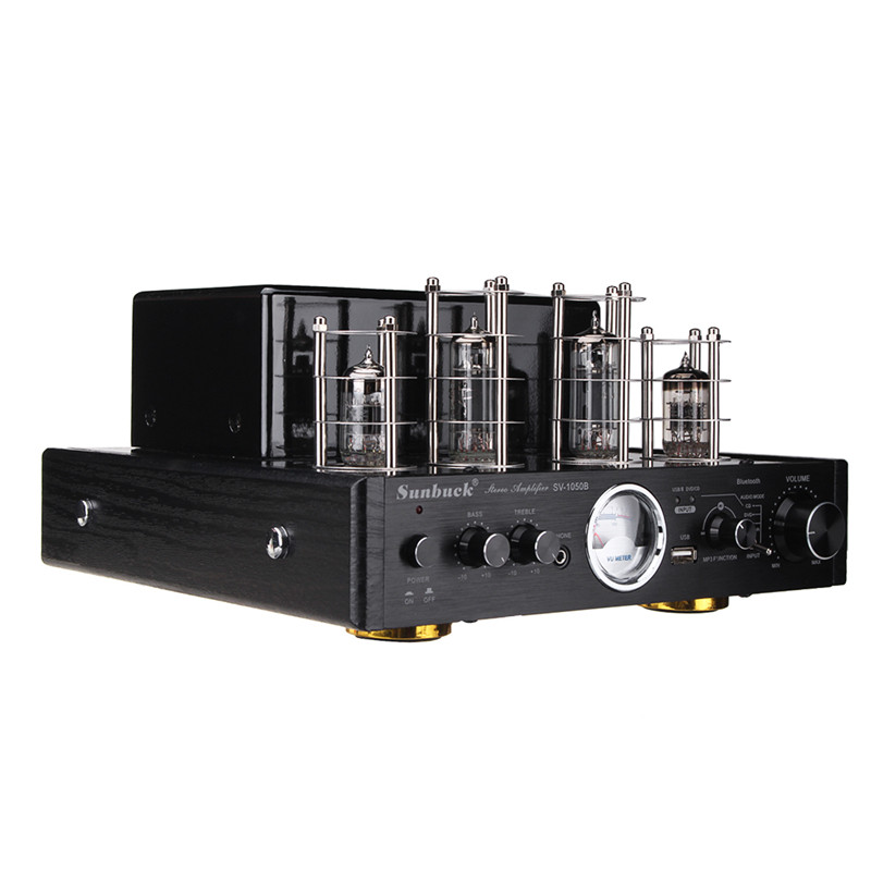 Wireless Bluetooth Version Input AUX/USB Vacuum Tube Audio Amplifier 2 CH Home HIFI Stereo Lossless Amplifier With Vu Meter цена и фото