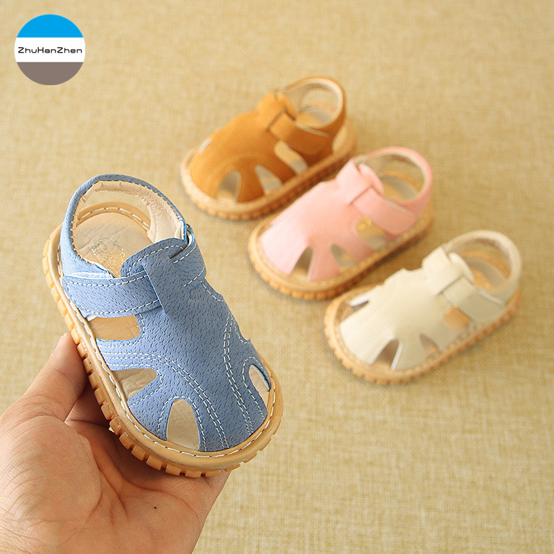4.5 Length Blue Sandals for Baby Boy 12-15 Months