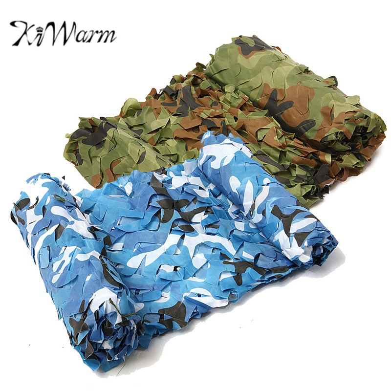 KiWarm Practical 7x2m Desert Digital Camo Net Military Camouflage Netting Games Camouflage Net Hunting Camping Hide Garden Cover