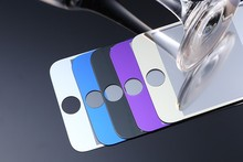 ФОТО 1/pcs plating tempered glass for iphone 5 5s/c se 6 6s 7 screen guard protector purple/gold/silver/blue/black  front film