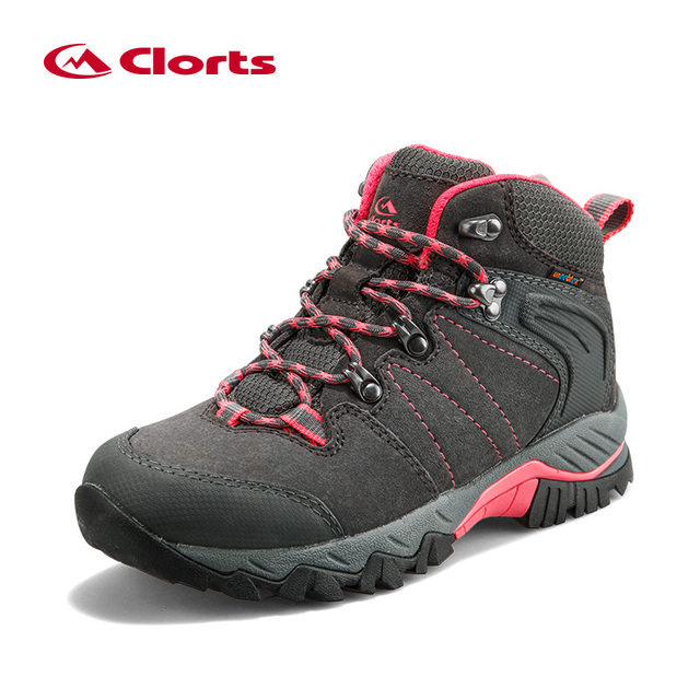 Clorts Women's Winter Sneakers Genuine Leather Sneakers Waterproof Tactical Military Boots Trekking Boots for Women HKM-822