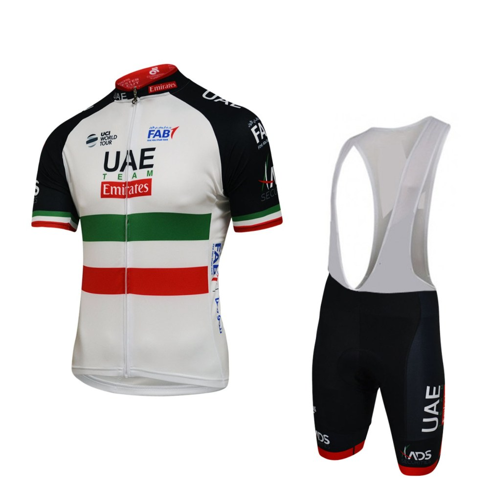 2018 Pro team uae cycling jersey set new Bicycle maillot MTB Racing ropa Ciclismo Short sleeve summer bike clothing GEL pad pro team cycling jersey cycling clothing ropa ciclismo short sleeve polyester bike jerseys and silica gel pants for mtb gt21