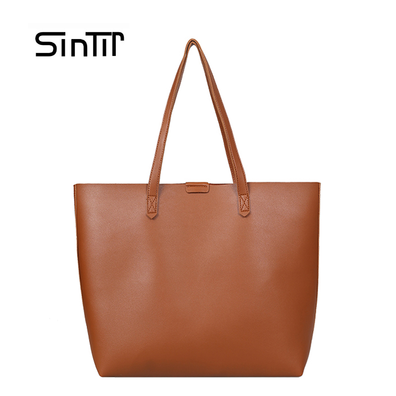 SINTIR Women Casual Tote Shoulder Bags Brand Famous Female High Quality Capacity PU Leather Handbag Girls Shopper Bag Sac a Main famous brand women s pu leather shoulder bag women messenger bags handbag female casual soft tote bolsa feminina 1stl