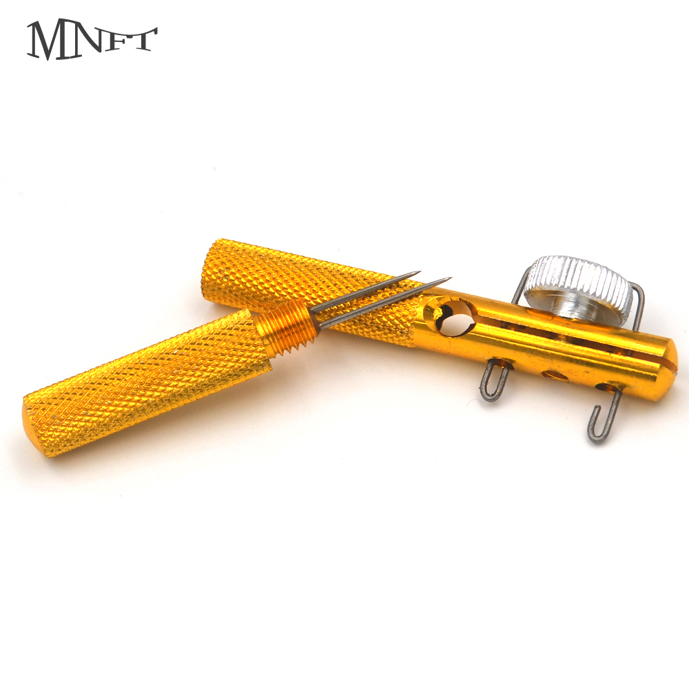 MNFT 1Set Aluminum Alloy Fishing Hook Line Knotting Tier Tool Hooks Loop Making Tie Device Fishook Decoupling Remover ...