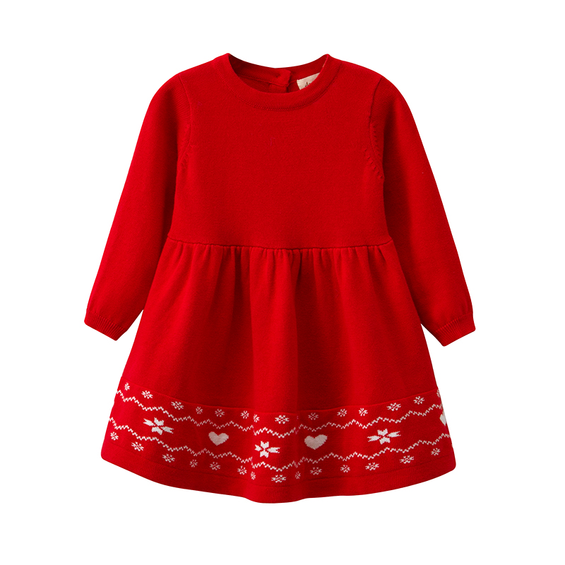 Infant Baby Girls Winter Long-Sleeved Knit Sweater Dress, Toddler Girls Christmas Dresses, Baby Red Knitted Dress autumn winter female long wool knitted dresses turtleneck slim lady accept waist package hip pullovers sweater dress for women