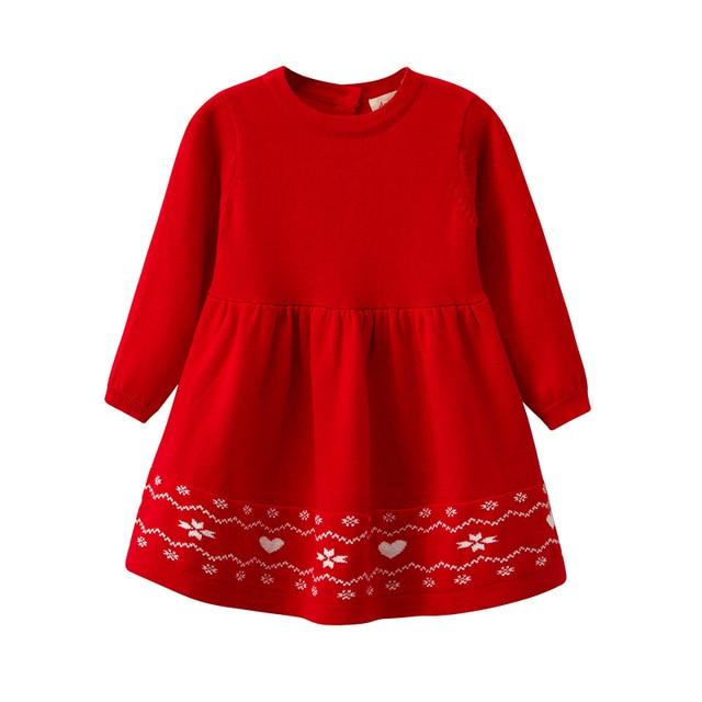 b3dca570964e Infant Baby Girls Winter Long Sleeved Knit Sweater Dress