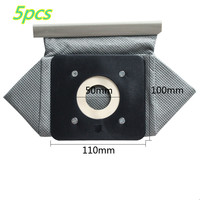 5pcs 11x10cm Universal Cloth Bag Reusable Vacuum Cleaner Bags For Replacement Philips Electrolux LG Haier Samsung
