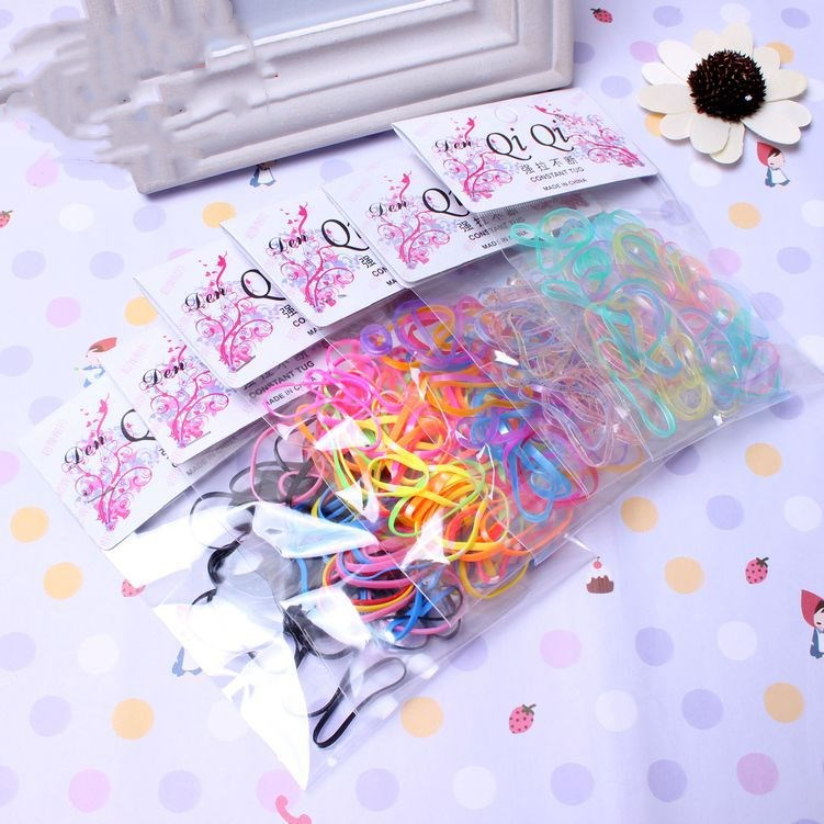 About 40 Pcs/pack Ponytail Holder Elastic Hair Band  Hair Holder Rubber Hairband Hair Accessories For Girls Rope Tie Gum