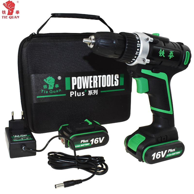 <font><b>16V</b></font> power tools electric Drill Cordless Drill <font><b>battery</b></font> drill Electric electric drilling <font><b>battery</b></font> Screwdriver Mini Plus Hand bag image