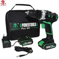 16V Power Tools Electric Drill Cordless Drill Battery Drill Electric Electric Drilling Battery Screwdriver Mini Plus