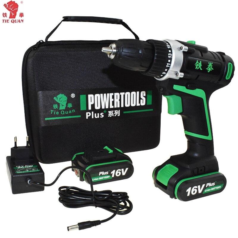 16 v outils électriques Perceuse électrique Perceuse sans fil batterie perceuse Électrique électrique de forage batterie Tournevis Mini Plus sac À Main