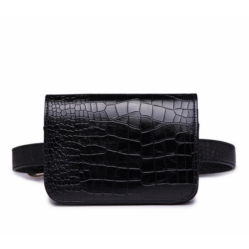 Personalised Custom Initial Letters Vintage Waist Bag Women Crocodile Pattern Travel Belt Wallets Ladies Waist Packs