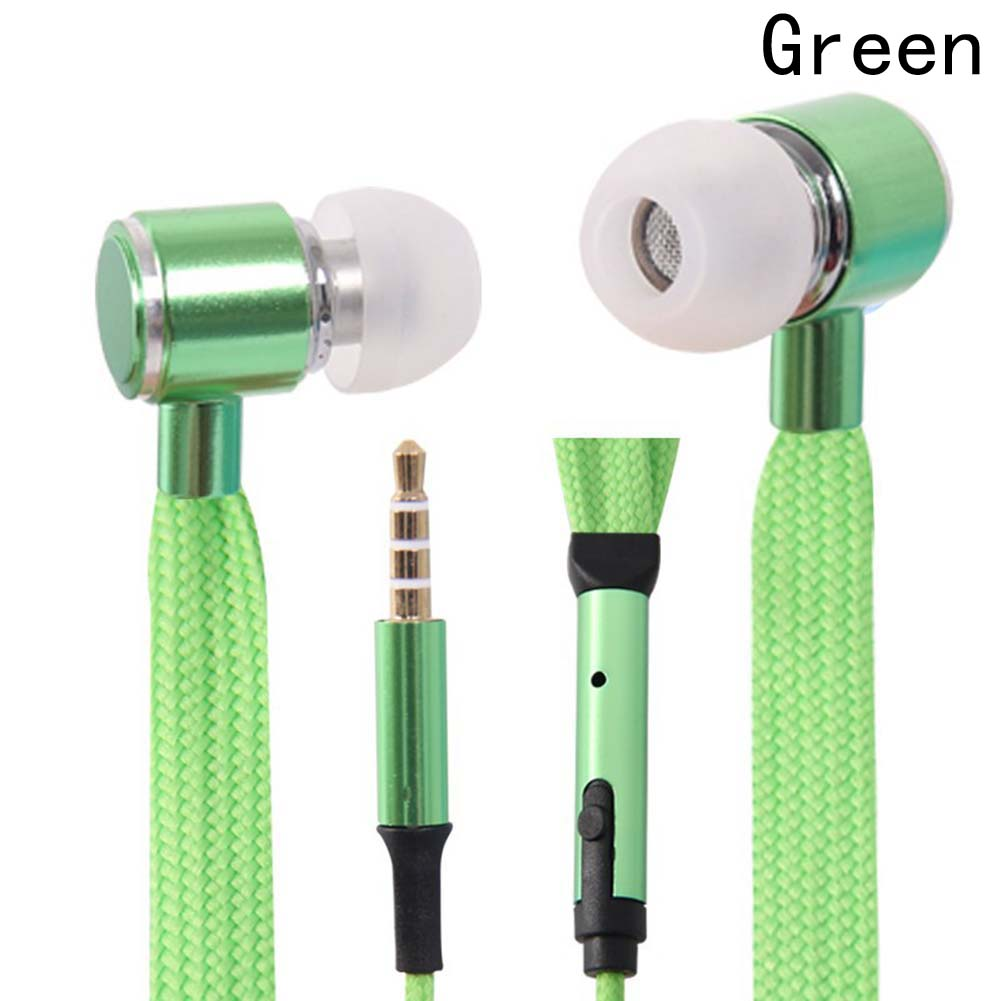 Portable In-Ear Earbud Portable Professional Music Earphones New Style In-Ear Shoe Lace Earphones With Mic fashion professional in ear earphones light blue black 3 5mm plug 120cm cable