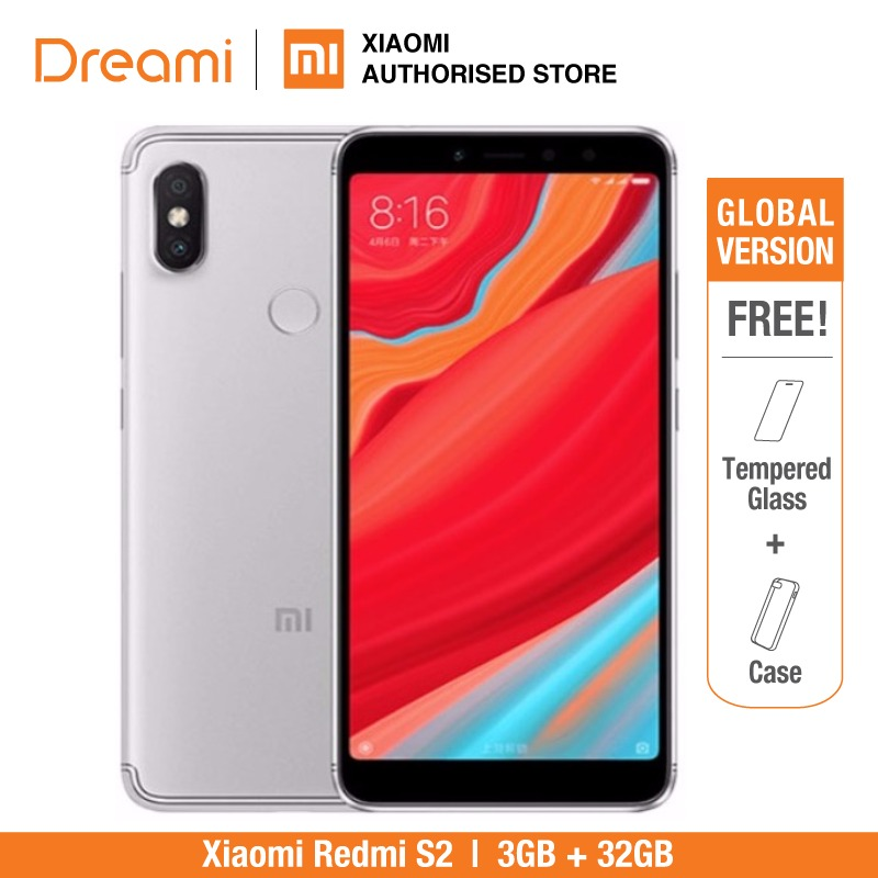 Глобальная версия Xiaomi Redmi S2 32GB ROM 3GB ROM (1 год гарантии продавца) новый комплект и запечатанная коробка