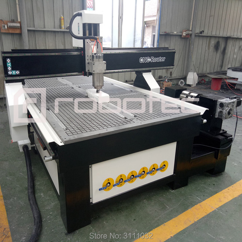 High Z Axis 300mm 4 Axis Cnc Router/metal Wood Mdf Cnc Milling Machine 1325