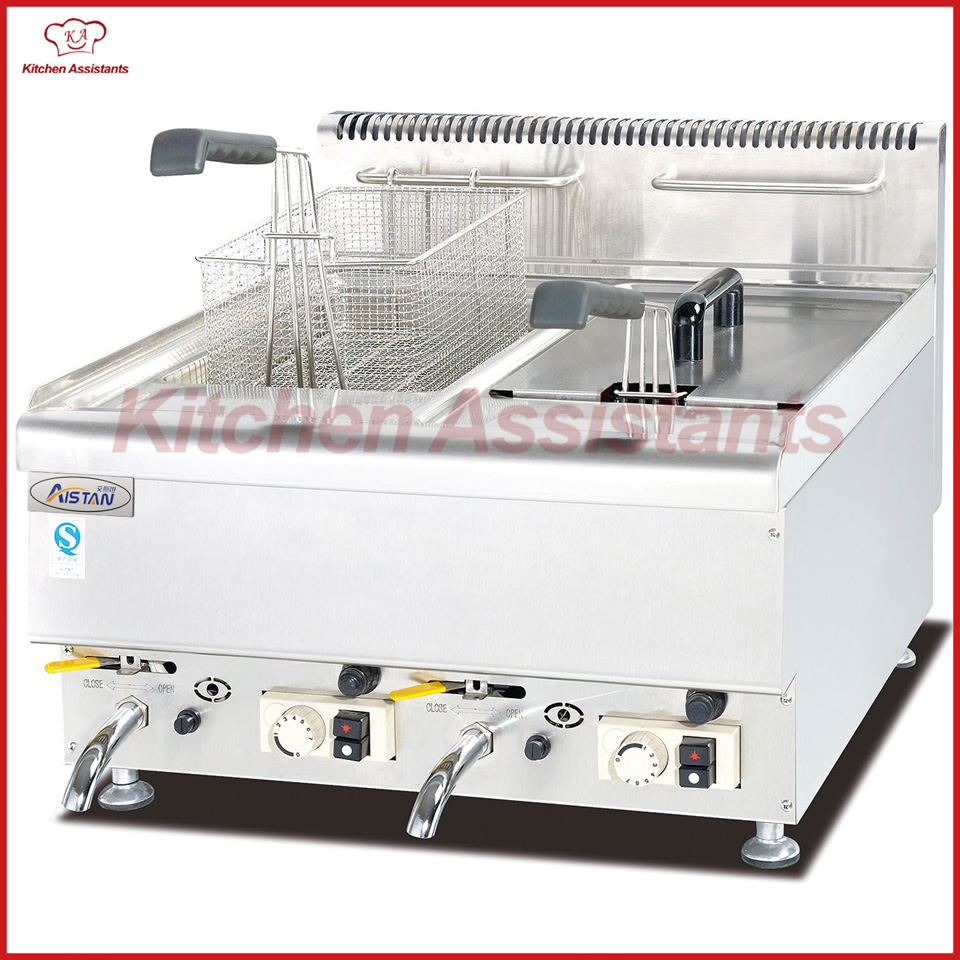 цена на GH565 Gas Fryer with 2 tanks 2 baskets of catering equipment