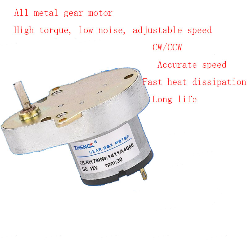 Duck egg motor 12V 24V pear-shaped ZS-RI pure aluminum shell copper