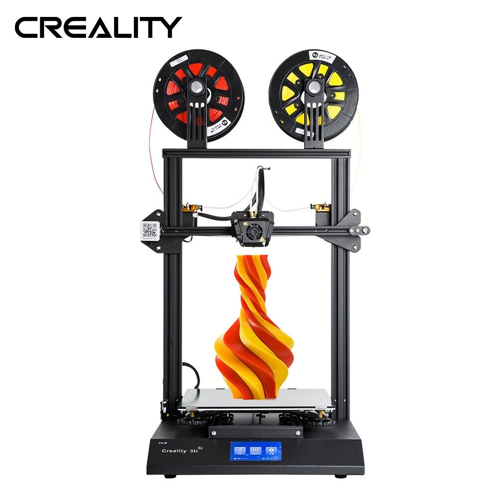 Creality 3D CR-X doble Color opcional de 4,3 pulgadas de pantalla táctil 3D impresora dos ventilador de refrigeración con 2 kg gratis filamento PLA de