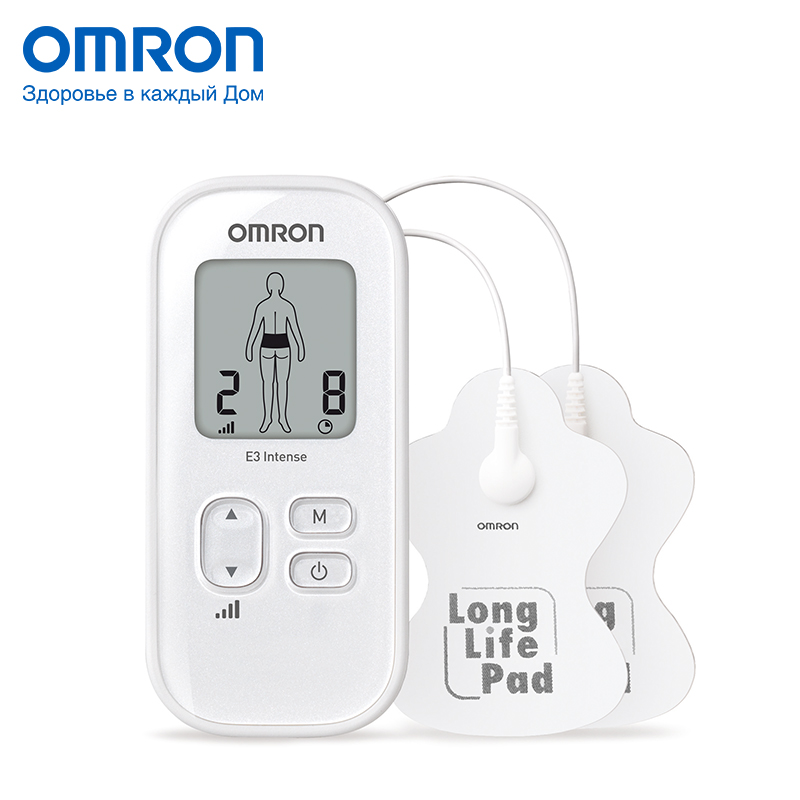 CS Omron E3 Intense (HV-F021-EW) Electric massager Massage & Relaxation Home Health Care Neuro stimulator 3 massage modes omron m6 hem 7213 aru blood pressure monitor home health care monitor heart beat meter machine tonometer automatic digital