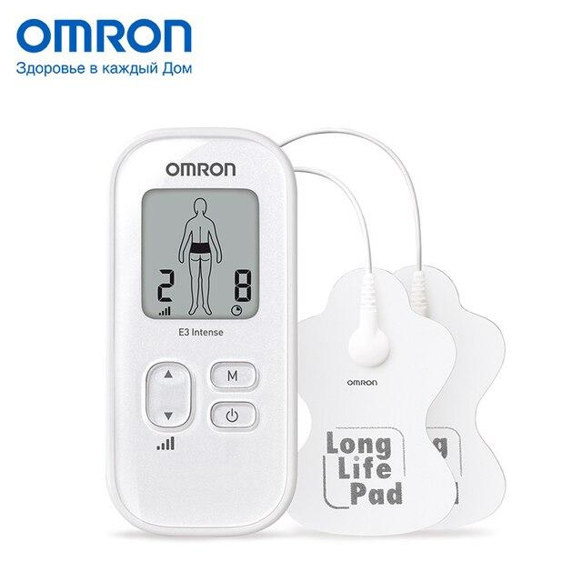 Электронейромиостимулятор для обезболивания OMRON Е3 Intense (HV-F021-EW), 6 областей воздействия, 3 режима массажа, Многоразовые пластины, Быстрое воздействие, Регулируемая интенсивность, Таймер