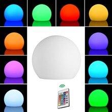 LEDGLE Rechargeable 3D Moon Table Lamp LED Ball Light Decorative nightlight Cordless RGB Lights IP44 Waterproof led bedside lamp