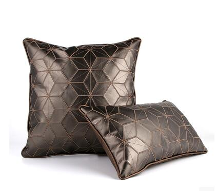 55x55cm European Style Solid 4 Colors Square Cushion Cover pu Leather pillow case decorative sofa pillowcase for cushion