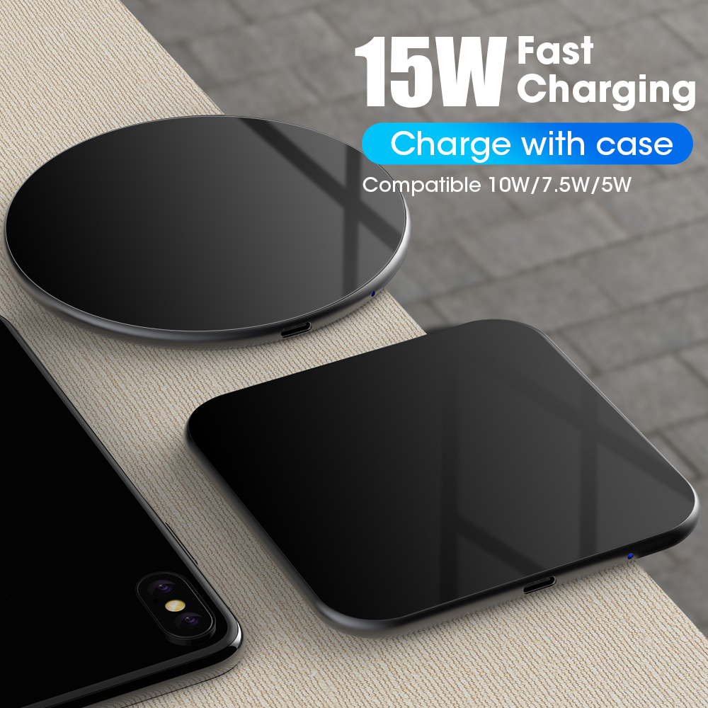 15W Wireless Charger Mat for iPhone X/XS Max XR 8 Plus SIKAI 10W Wireless Charging Pad for Huawei mate 20 pro p30pro|Mobile Phone Chargers| |  - title=