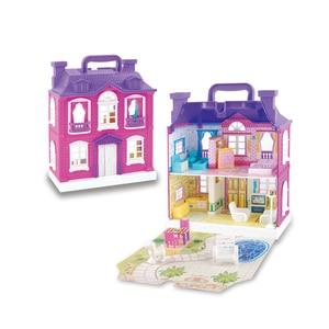 Image 3 - Barbie Doll DIY Dream House Accessories Children Castle Villa Educational Toy Boy Girl Birthday Christmas New Year Gift